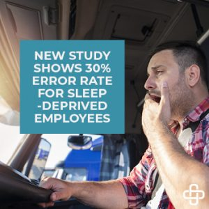New Study Shows 30% Error Rate for Sleep Deprived Employees