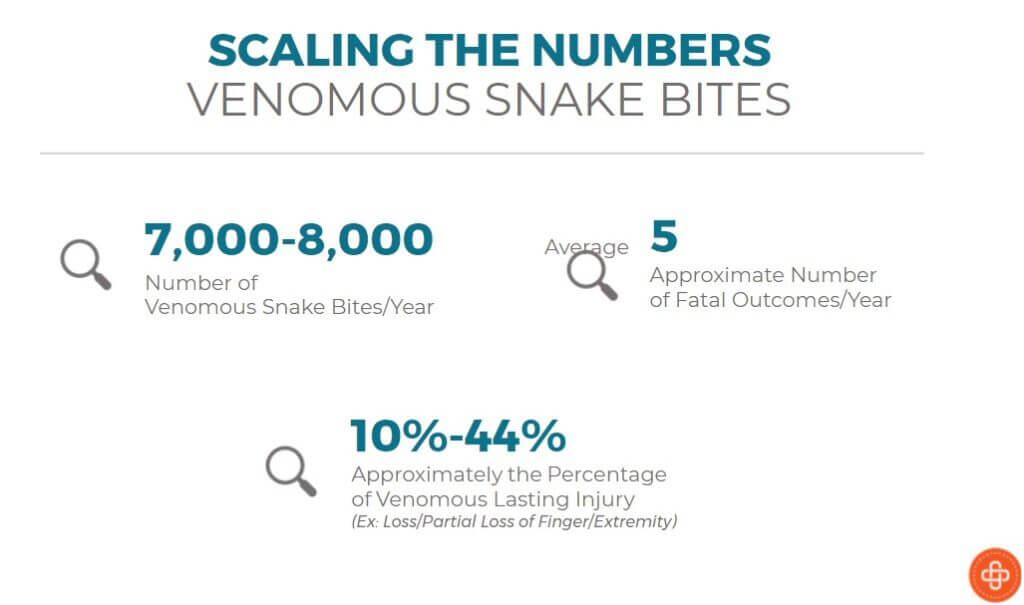 Snake bite statistics